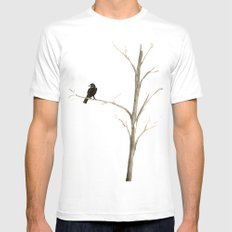 Raven in a Tree MEDIUM Mens Fitted Tee White