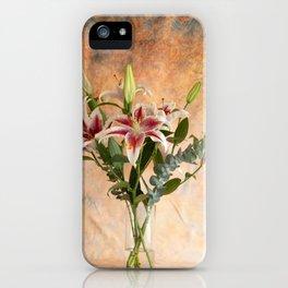 Oriental Lily Bouquet iPhone Case