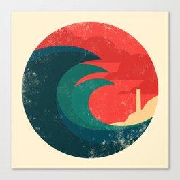 The wild ocean Canvas Print