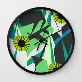 Fresh tropical decor Wall Clock