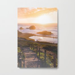 Sunset At Sutro Baths - San Francisco, CA Metal Print