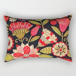 Blooms Butterflies and Ladybugs Rectangular Pillow
