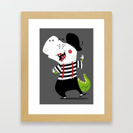 T-Rex Mime Framed Art Print