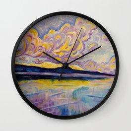 Sunrise on the Comox Glacier Wall Clock
