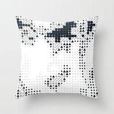 Geometric Face Throw Pillow
