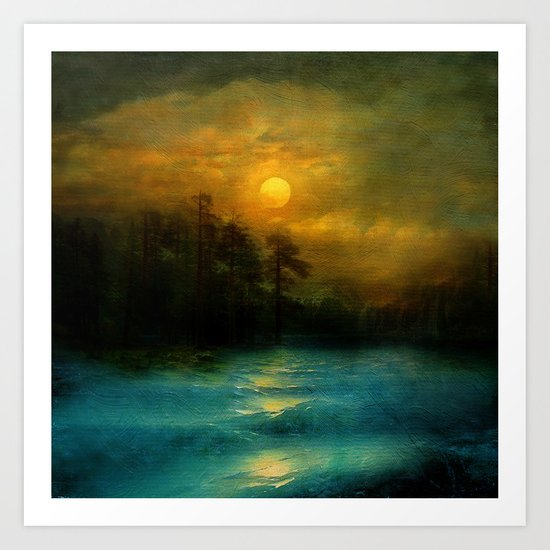 Hope, in the turquoise water. Art Print