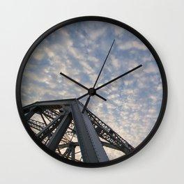 Silver Span Wall Clock