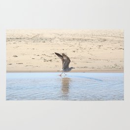 Seagull bird taking off Rug