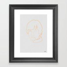 One line Skywalker Framed Art Print