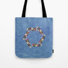 Sock Monkey Water Ballet Vertical Tote Bag