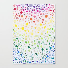 Rainbow shower Canvas Print