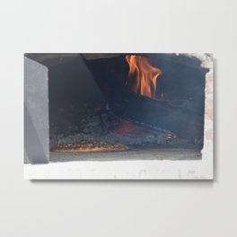 Pizza Oven Metal Print