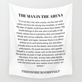 The Man In The Arena Speech Theodore Roosevelt Wall Tapestry