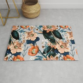 Flowering autumnal botanic Rug