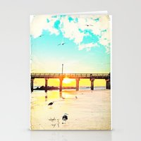 boardwalk empire Stationery Cards featuring Boardwalk by Mina Teslaru