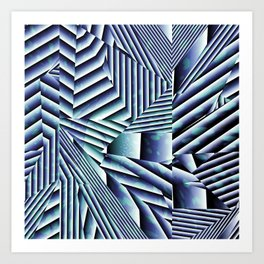 Linear Chaos Abstract Pattern Art Print