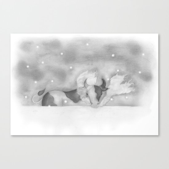 Cold Cow Canvas Print