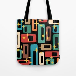 Retro Mid Century Modern Abstract Pattern 223 Tote Bag