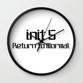 init 5 (black) Wall Clock