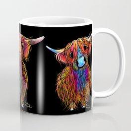 HiGHLaND CoW PRiNT SCoTTiSH ' TeaM SCoTLaND ' BY SHiRLeY MacARTHuR Coffee Mug