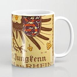 Vintage 1937 Riesling Wine Bottle Label Weingut Ernst Jungkenn Coffee Mug