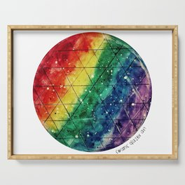 Rainbow Prism Planet Serving Tray