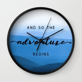 Smoky Mountains -  And So The Adventure Begins Wall Clock