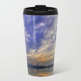 The Docks (Digital Art) Travel Mug