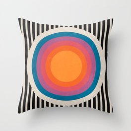 Vintage California Sun Throw Pillow