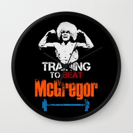 Khabib Nurmagomedov - Training to beat McGregor Wall Clock