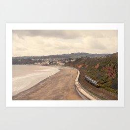 Dawlish Seascape Sprinter Art Print