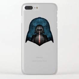 Darth Vader with Lightsaber in Galaxy Clear iPhone Case