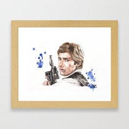 Han Shot First Framed Art Print