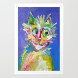 AbstractaCat Art Print
