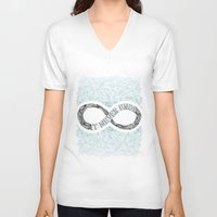 infinity V-neck T-shirts featuring Infinity by Barlena