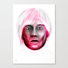 Andy Spiral on white Canvas Print