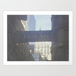 Fifth Ave Art Print