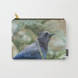 Curious Steller Jay Carry-All Pouch