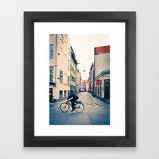 Copenhagen Cycle Style Framed Art Print