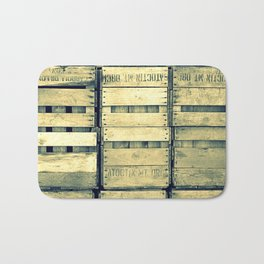 Apple Crate Wooden Texture Bath Mat