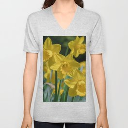 Daffodils in a field Unisex V-Neck