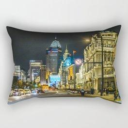 Urban Night Scene at The Bund, Shanghai, China Rectangular Pillow
