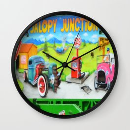Jalopy Junction 3 Wall Clock