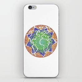"""The earth is but one country"" iPhone Skin"
