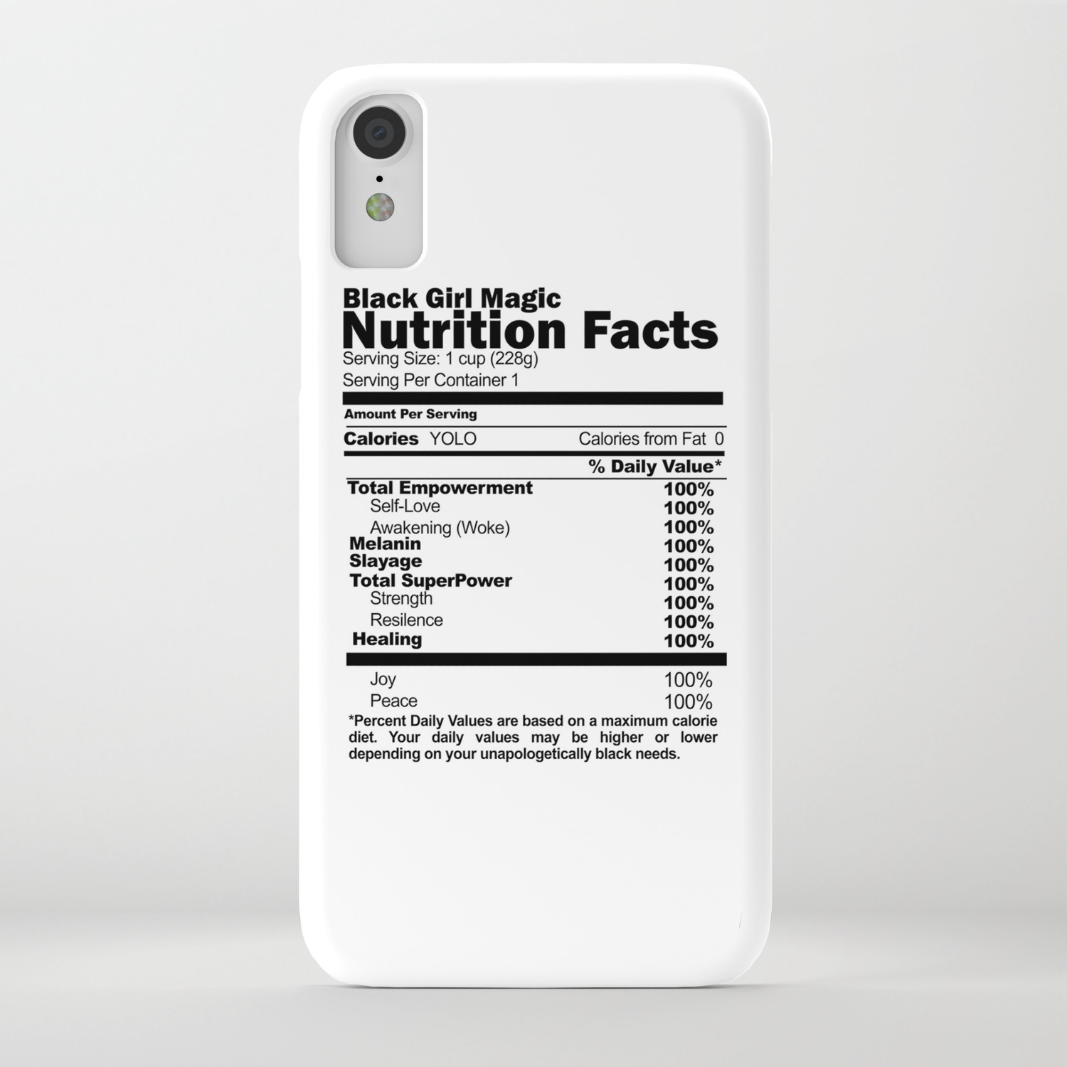 Black Girl Magic Nutrition Facts Iphone Case By Alegnaart Society6