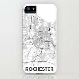 Minimal City Maps - Map Of Rochester, New York, Untited States iPhone Case