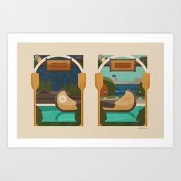 Paddle Up Art Print
