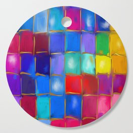 MoSaiC ART ' ALL THe PReTTY CoLouRS ' By SHiRLeY MacARTHuR Cutting Board