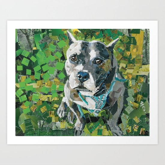 Crinkle The Rescue- Available for adoption @ Bama Bully Rescue Art Print