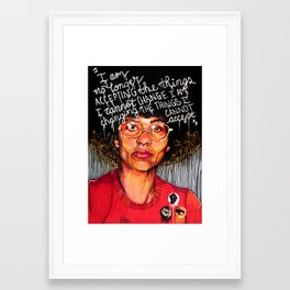 Angela Davis Framed Art Print